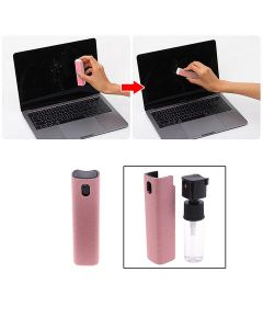 Microfiber Screen Display Cleaner Safe Reusable Portable Spray With Cleaning Cloth For Phones Tablet Laptop PC - Black