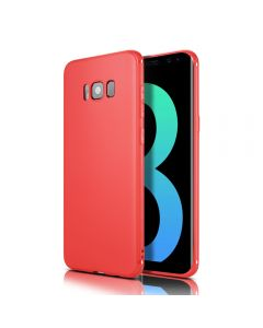 Samsung Galaxy S8+ Plus Solid Soft TPU Gel Cover Case - Red