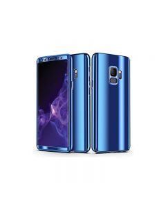 Samsung Galaxy S9 Full 360 Mirror Hard Protective Cover Case - Blue
