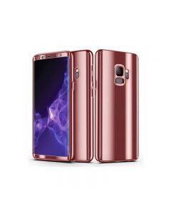 Samsung Galaxy S9 Full 360 Mirror Hard Protective Cover Case - Pink