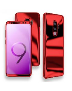 Samsung Galaxy S9+ Plus Full 360 Mirror Hard Protective Cover Case - Red