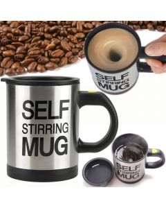 Double Insulated Self Stirring Mug 400ml Electric Coffee Cup - Stirs Your Coffee Hot Chocolate Tea Soup