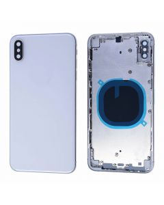 Replacement Battery Back Housing Glass Cover Compatible With Apple iPhone XS Max - Silver