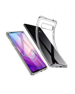 Transparent Soft TPU Protective Cover Case Compatible With Samsung Galaxy S10 Plus