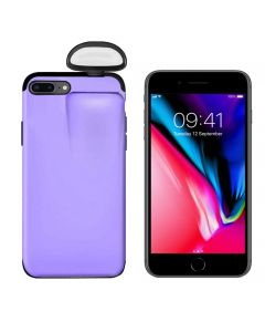 Unified Protection Silicone Gel Rubber 2 in 1 AirPods Phone Cover Case For iPhone 7+ / 8+Plus (AirPods 1/2 Only)- Purple