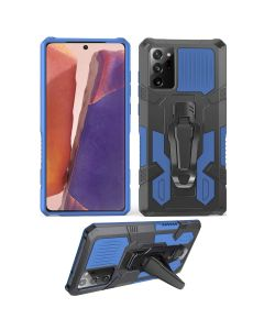 Rugged Armor Shield Belt-clip Kickstand Protective Shockproof Hard Case Cover For Galaxy Note 20 Ultra - Blue