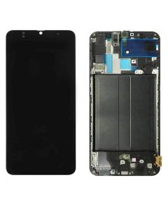 Replacement LCD Display Touch Screen Digitizer Assembly With Frame Compatible With Samsung Galaxy A70 (SM-A705W) - Black
