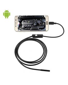 USB 1M Meter Endoscope Inspection Camera HD 6 LED 7mm Lens 720P Waterproof Car Endoscope Mini Camera - Android Only