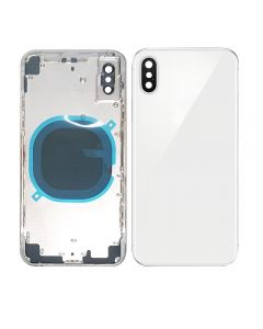 Replacement Back Housing Back Cover Without Parts Compatible With Apple iPhone X (10) - Silver