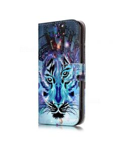 Tiger Pattern PU Leather Full Cover Wallet Case For iPhone XS Max