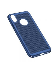 Heat Dissipation Protective Case Back Cover Shell for Apple iPhone X / iPhone XS - Blue
