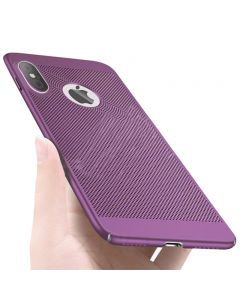 Heat Dissipation Protective Case Back Cover Shell for Apple iPhone X / iPhone XS - Purple