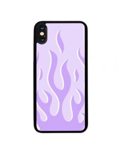 Fashion Lavender Purple Flame Fire Soft Phone Back Case Cover For Apple iPhone XR