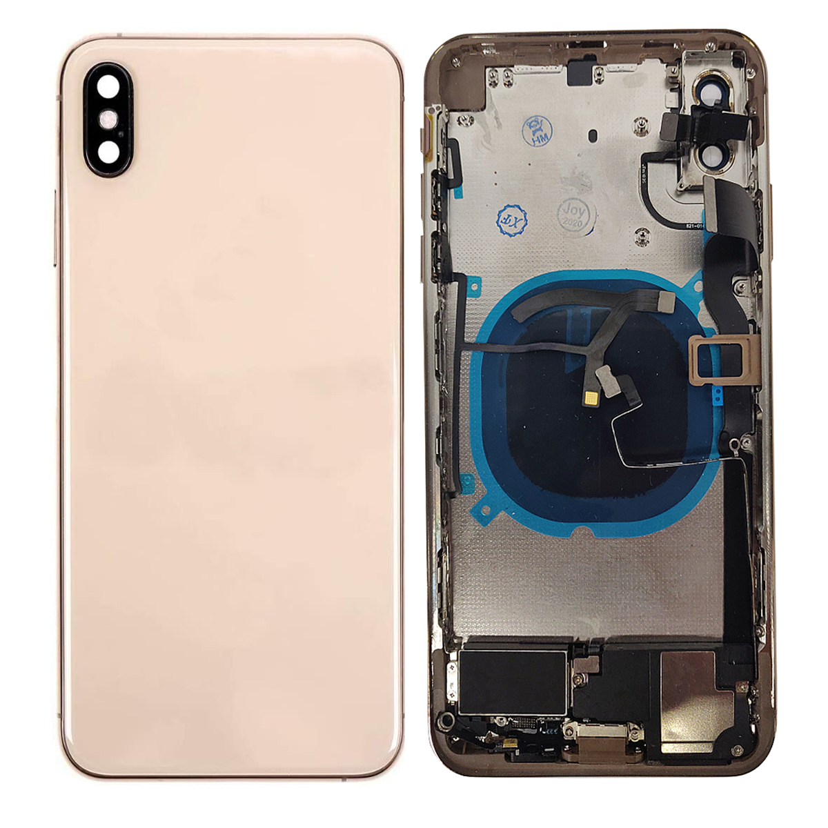 Replacement Back Housing Glass Cover With Parts For Apple iPhone XS Max - Gold